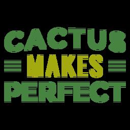 Cactus hace letras perfectas