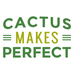 Cactus makes perfect lettering