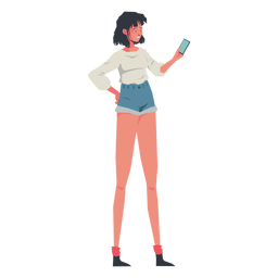 Casual girl on phone character