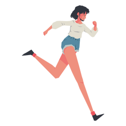 Casual girl running character