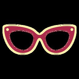Óculos de gato rasos