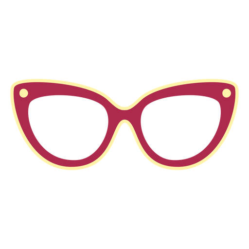 Cat eye glasses flat Transparent PNG