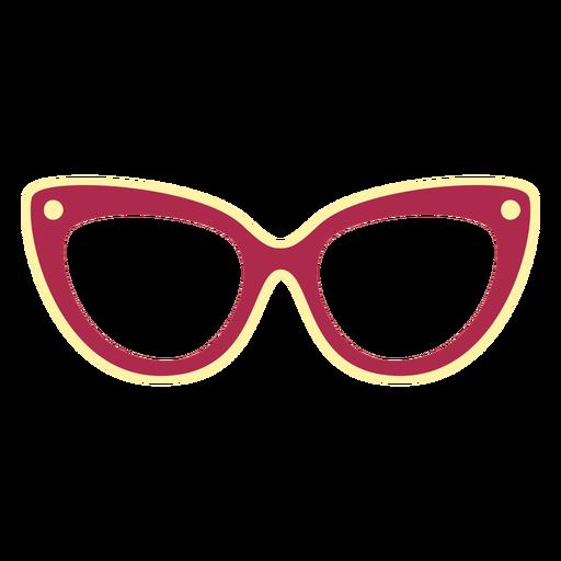 Cat eye glasses flat
