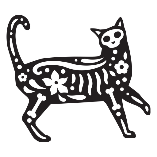 Cat skull cut out Transparent PNG