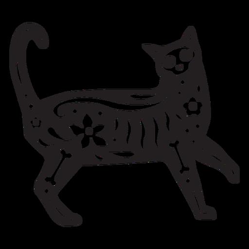 Cráneo de gato cortado Transparent PNG