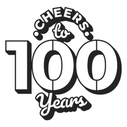 Cheers to 100 years cake topper