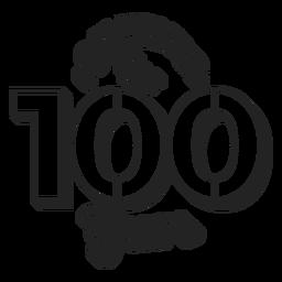 Felicidades para o bolo de 100 anos