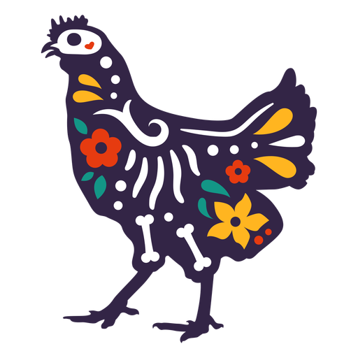 Otomi crânio de frango