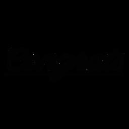 Parabéns letras cursivas