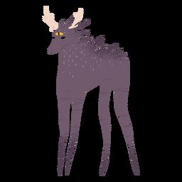 Creepy creature horns textured