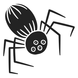 Creepy spider halloween cut out