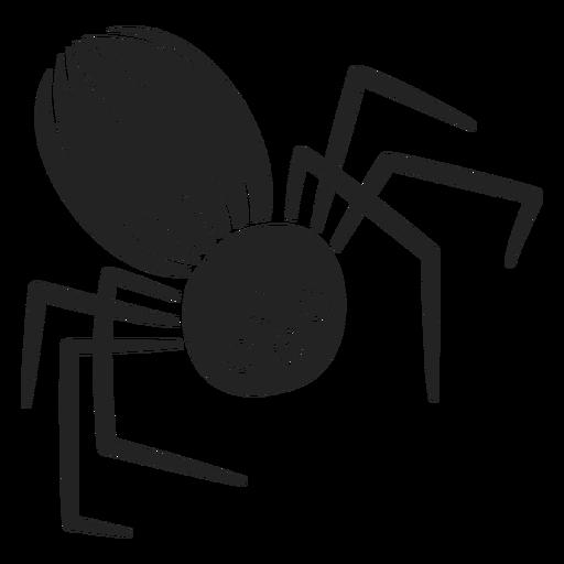 Araña espeluznante recorte de halloween