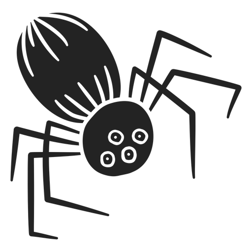 Aranha assustadora de halloween cortado