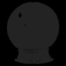 Crystal ball halloween cut out