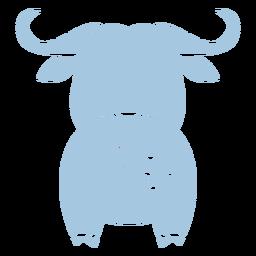 Cute blue bull back cut out