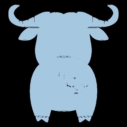 Recorte de espalda de toro azul lindo