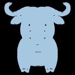 Cute blue bull cut out