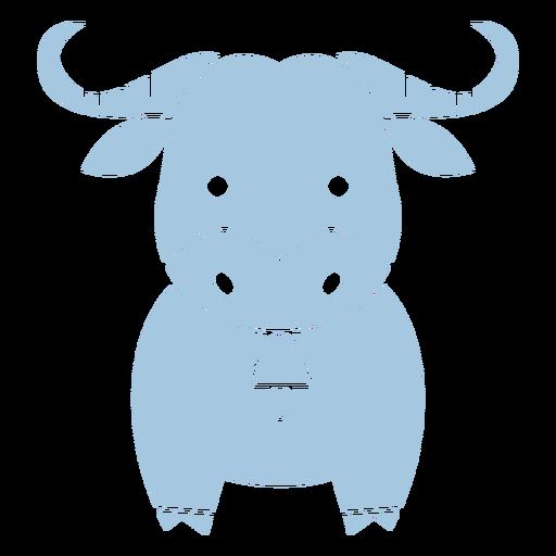 Lindo toro azul cortado