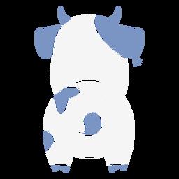 Cute blue cow back cut out