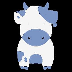 Cute blue cow cut out