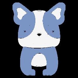 Cute blue dog cut out