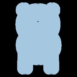 Cute blue panda back cut out