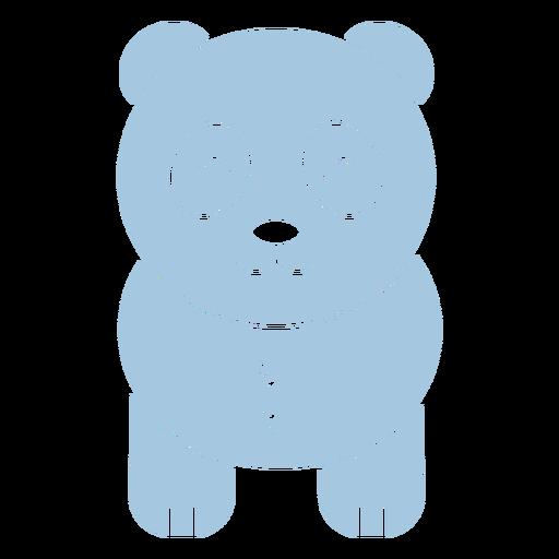 Lindo panda azul cortado