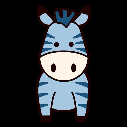 Cute blue zebra flat