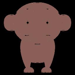 Cute brown monkey cut out