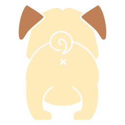 Cute bulldog back cut out