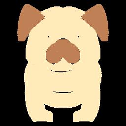 Cute bulldog cut out