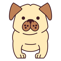 Cute bulldog flat