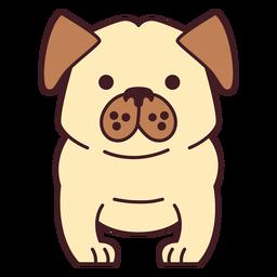 Plano lindo bulldog