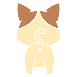 Cute cat back cut out
