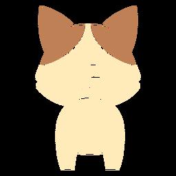 Lindo gato recortado