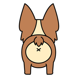 Lindo corgi espalda plana