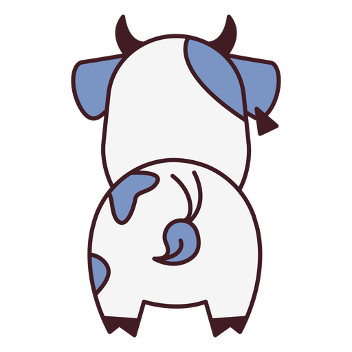 Cute cow back flat