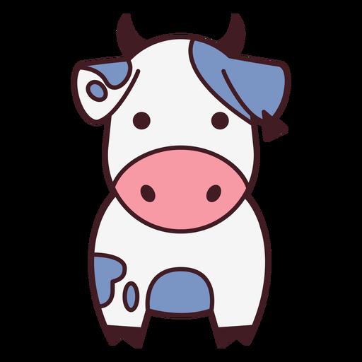 Linda vaca plana