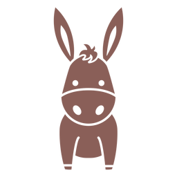 Cute donkey cut out