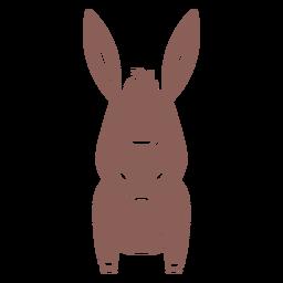 Lindo burro cortado