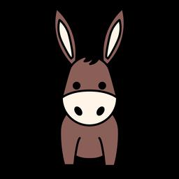 Apartamento de burro fofo