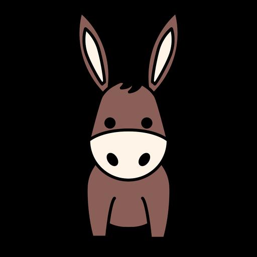 Cute donkey flat