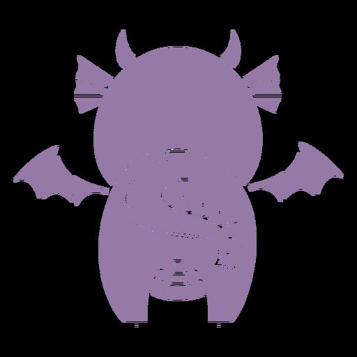 Lindo dragón recortado