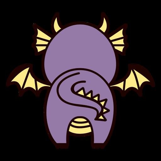 Lindo dragón espalda plana