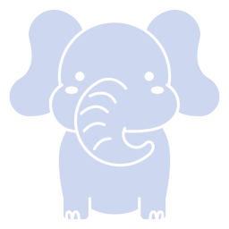 Cute elephant cut out