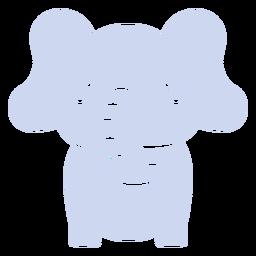 Elefante fofo cortado