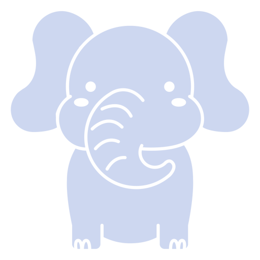 Cute elephant cut out
