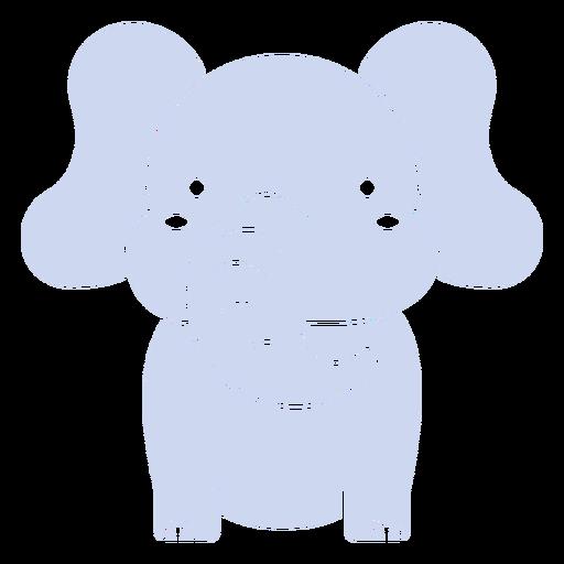 Lindo elefante cortado