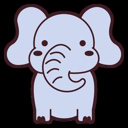 Lindo elefante plano