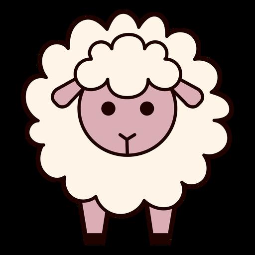 Nettes flauschiges Schaf flach
